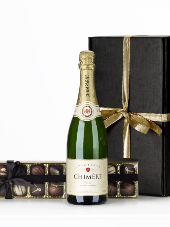 Champagne and Chocolates Hamper by Hampers in Lindon